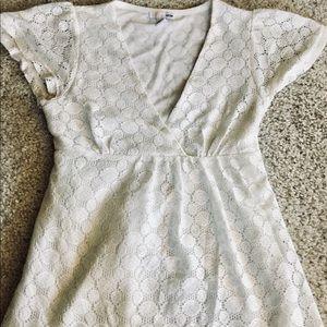 H&M cream lace blouse